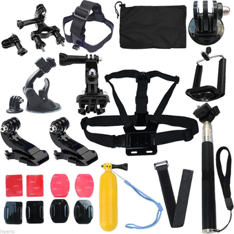 Head Strap Mount Floating Monopod Combo Kit Accessories For GoPro 2 3 4 - Intl