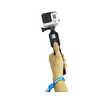 TELESIN C00935 108 cm Retractable Remote Monopod for Gopro Hero 4/2/ 3 / 3+ / 4 (Black/Blue)