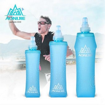 AONIJIE 500ml Soft Flask TPU Squeeze Outdoor Sports Running Water Bottle 150ml
