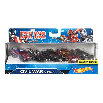 Hot Wheels® MARVEL® Captain America Civil War Character Car 5-Pack