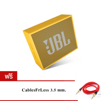 JBL GO Bluetooth Speaker (Yellow) ฟรี CablesFrLess (TM) 3ft 3.5mm