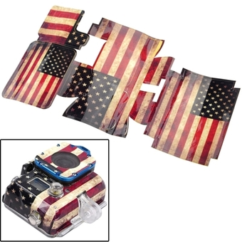 Retro USA Flag Pattern Case Sticker for GoPro Hero 3 - INTL
