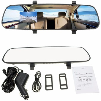 2.7''1080P LCD HD Car Camera Dash Cam Video Recorder Rearview Mirror Vehicle DVR - Intl