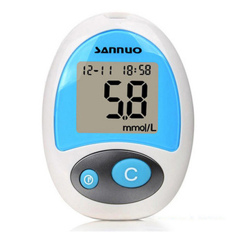 Sannuo Glucose Meter Stable Blood Sugar Test Machine with Leather Case