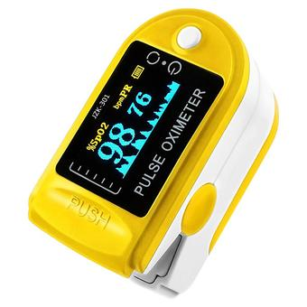 niceEshop Finger Pulse Oximeter Finger Oxygen Meter With Pulse Rate Monitor, Yellow