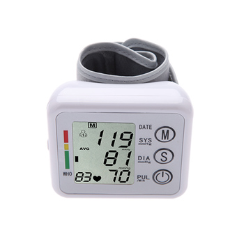 Automatic Digital LCD Portable Wrist Blood Pressure Meter Health Pulse Monitor Measurement Sphygmomanometer for Health Care with Voice Function