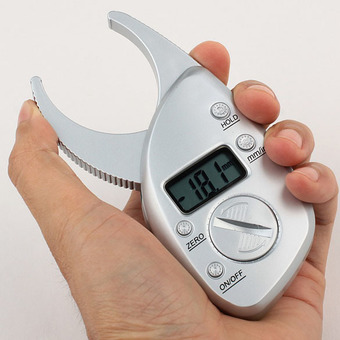 Digital Body Fat Caliper Skin Fold Analyzer Measuring Tape with LCD Display