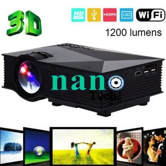 Nanotech UC46 1080P LED LCD Projector Wifi/2.4G Portable Mini Home Theater TV/USB/VGA US