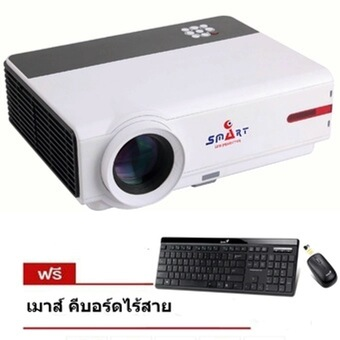ISMART หลอด LED 3D FULL HD Smart Projector WXGA Android Wifi รุ่น RD808 - Black