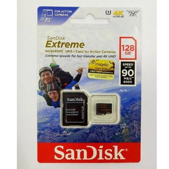SANDISK EXTREME® microSD™ UHS-I CARD FOR ACTION CAMERAS 128 GB. MICRO SDXC CARD Extreme Class U3 SANDISK (SDSQXVF_0128G_GN6MA)