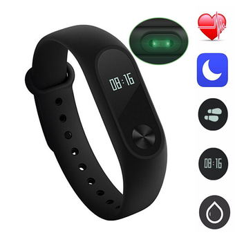 Xiaomi Mi Band 2 Wrist Waterproof Bracelet Smart Watch Heart Rate OLED Original - intl