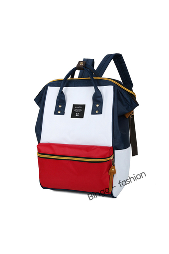 Wonderful Story Bingo Fashion กระเป๋าสะพายหลัง New Polyester Casual Backpack with Back Zip (Mixed Red)