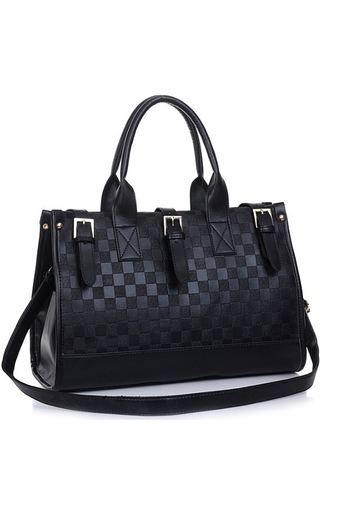 Women Ladies PU Leather Top Handle Bag