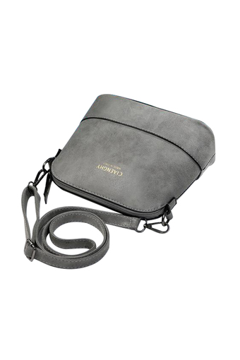niceEshop Women Vintage Frosted PU Leather Messenger Bag, Dark Grey(International)
