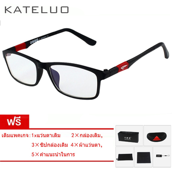 KATELUO TUNGSTEN CARBON STEEL Computer Goggles Reading Glasses Frame 13022 (black) [ Buy 1 Get 1 Freebie ] ร้านค้าดี ราคาถูกสุด - RanCaDee.com