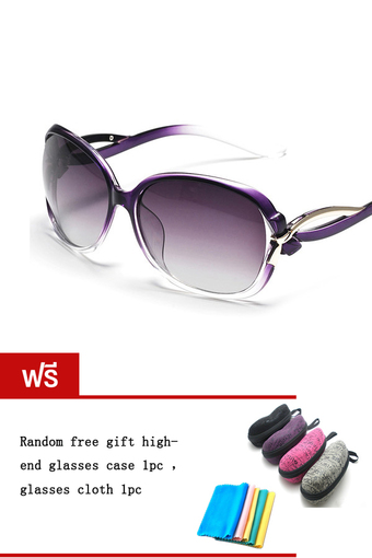 DAKIN แว่นตากันแดด รุ่น T5256- Polarized Purple (Free glasses case glasses cloth)