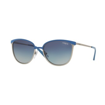 Vogue แว่นกันแดด รุ่น - VO4002S - Blue/Matte Brushed Silver (50254L) Size 55 Light Grey Gradient Dark Blue