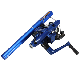 Mini Portable Telescopic Fishing Rod (Blue)