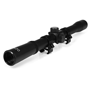 4X20EG Tactical Air Rifle Optic Sighting Telescope Mounting Mounts Hunting Sniper Scope (Black)