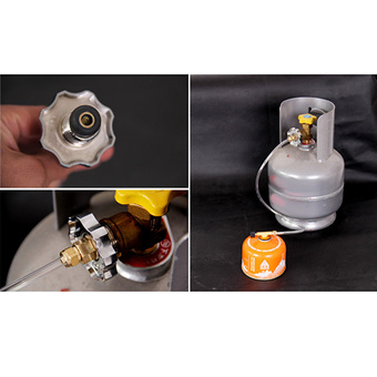 Gas Stove Switching Inflatable Valve Adapter Black