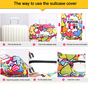 18-20 inch Travel Luggage Cover Suitcase Protective Cover Protector For Trunk Case Apply to 18-20 inch (Not include suitcase) ร้านค้าดี ราคาถูกสุด - RanCaDee.com