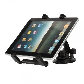 Car Mount with Suction Holder Base for iPad 1/2/3/4/iPad Mini/GPS/DVD/TV (Black)