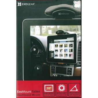 Exogear Exomount Tablet Dash Car Mount Holder for iPad 1/2/3/4 Galaxy Note 10.1 (Black)
