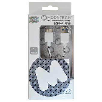 Moontech Datalink Cloth Micro USB 3.0 (WHITE)