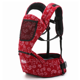 Hot Selling Fashion Multicolor Baby Carriers Shoulders Backpack-Red