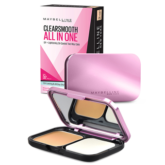 Maybelline Clear Smooth All In One Shine Free Cake Powder เบอร์ 04 Honey (เนื้อ)