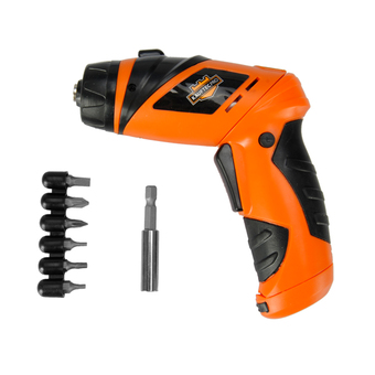 6V Screwdriver Battery Operated Cordless Wireless Mini Electric Screw Driver Tool สีส้ม