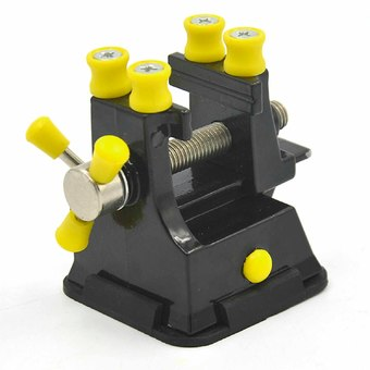 Mini DIY Adjustable Table Bench Drill Press Electric Drill Clip-on Clamp Vice Clip Carving Tool with Suction Cup Base