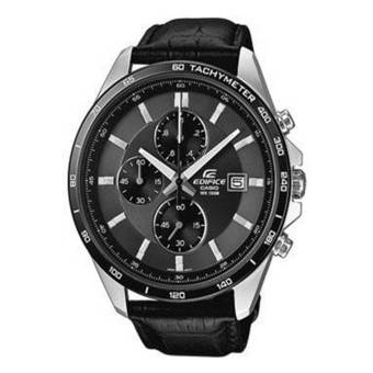 Casio Edifice EFR-512L-8A 100-meter water resistance Genuine leather band Men's Watch Black