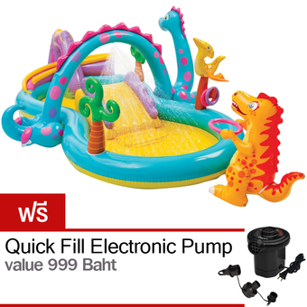 Intex Dinoland Play Center with Quick-Fill AC Electric Pump