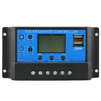 Y&H 30A PWM Solar Panel Battery Charge Controller LCD Dual USB Output 5V Mobile Charger 12V 24 Auto Work Max 480W Input KLD1230