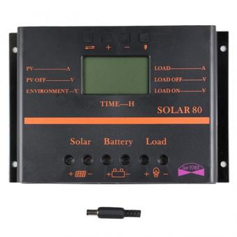 Y&H 80A PWM Solar Controller 5V USB Charger For Mobile Phone 12V 24V PV Panel Battery Charge Controller Solar system Home Indoor Use