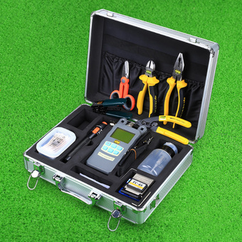 CRUISER 24 In 1 Fiber Optic FTTH Tool Kit FC-6S Fiber Cleaver Optical Power Meter 10Mw Visual Fault Locator - Intl
