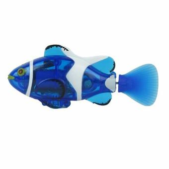 RC Mini Clown Fish Remote Control Infrared Ray Fish Electric Kids Toy Robofish(Blue)