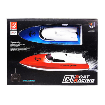ZT 49MHz Realistic Yacht Toy RC High Performance Racing Boat High-Speed Surfing เรือ แข่ง บังคับวิทยุ (สีฟ้า)