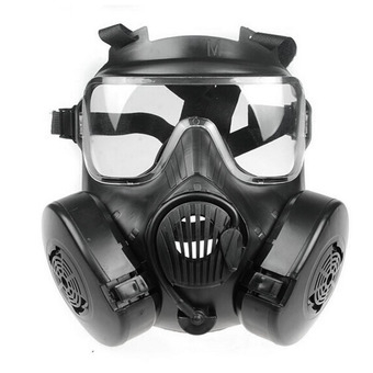 M50 Paintball Full Face Skull Gas Mask (Black)
