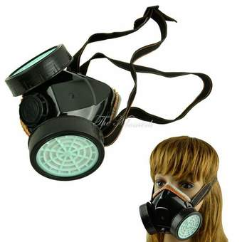 Happycat Spray Respirator Gas Safety AntiDust Chemical Paint Spray Mask