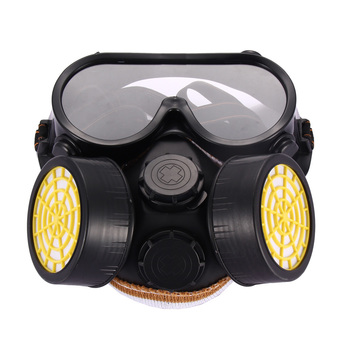 Industrial Gas Chemical Anti-Dust Paint Respirator Mask Glasses Goggles Set ร้านค้าดี ราคาถูกสุด - RanCaDee.com