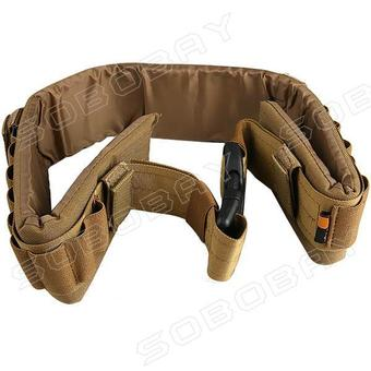 27-Holes Tactical Shotgun Bandolier Rifle Bullets Elastic CartridgeHoles 2-Strap Designed Hunting Belt Sling - Intl