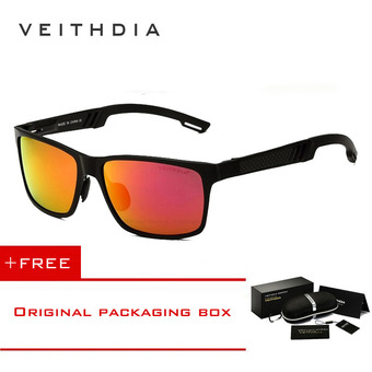 VEITHDIA Aluminum Sunglasses Polarized Lens Men Sun Glasses Mirror Male Driving Fishing Eyewears Accessories 6560 (Red) [ Buy 1 Get 1 Freebie ]