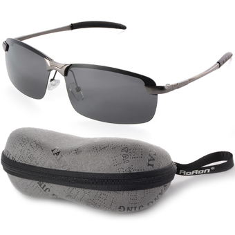 UV400 Polarized Glasses Outdoor Sports Driving Sunglasses Black+Grey Frame OS387-SZ