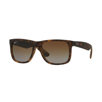 Ray-Ban แว่นกันแดด รุ่น Justin RB4165F - Havana Rubber (865/T5) Size 55 Polar Brown Gradient