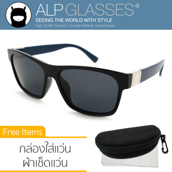 ALP Polarized Sunglasses แว่นกันแดด Wayfarer Style รุ่น ALP-0020-BKT-BKP (Black/Black)