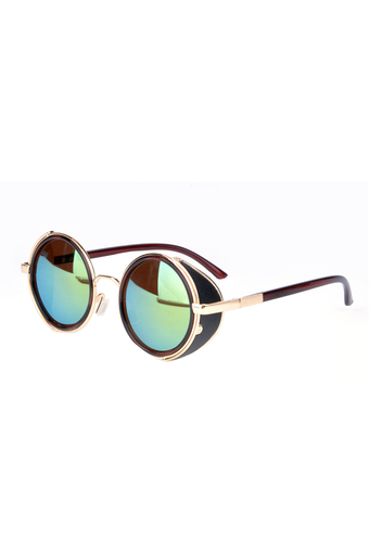 Vintage Round Sunglasses (Green)
