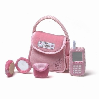 My First Purse Handbag Pretend Activity Plush Toy Girly Phone Toy - Intl