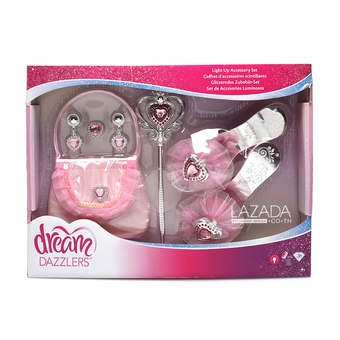 DREAM DAZZLERS LIGHT UP JEWELRY PLAY SET 864849-1